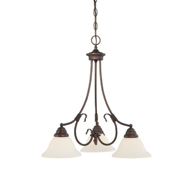 Fulton 3-Light Shaded Chandelier Finish: Rubbed Bronze