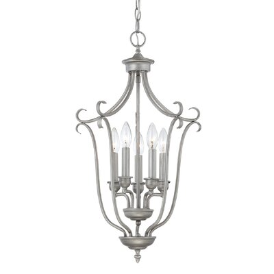 Desousa 5-Light Foyer Pendant Finish: Rubbed Silver