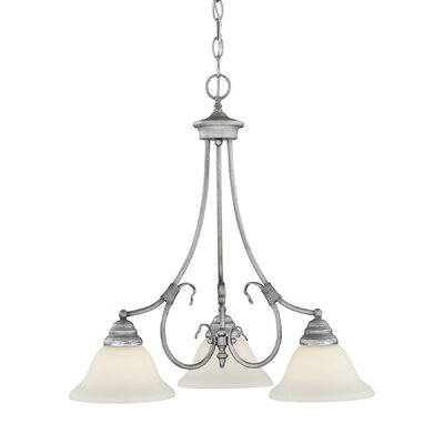 Fulton 3-Light Shaded Chandelier Finish: Rubbed Silver