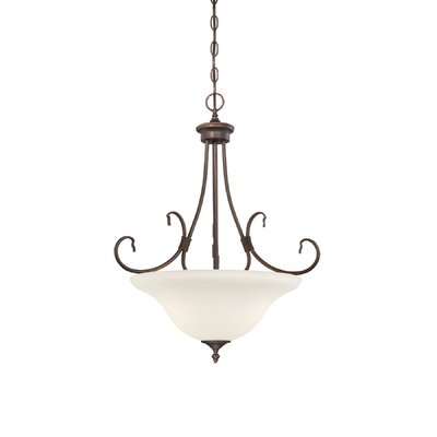 Fulton 3-Light Bowl Pendant Finish: Rubbed Bronze