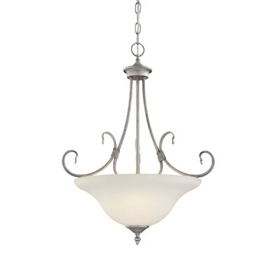 Fulton 3-Light Bowl Pendant Finish: Rubbed Silver