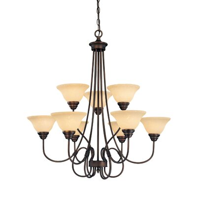 Fulton 9-Light Shaded Chandelier
