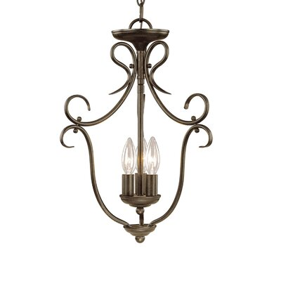 3-Light Foyer Pendant Finish: Burnished Gold