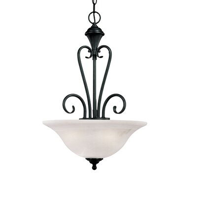 Devonshire 3-Light Pendant Finish: Black
