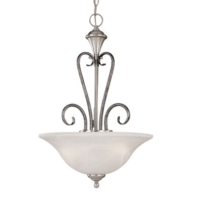 Devonshire 3-Light Pendant Finish: Satin Nickel/Silvermist