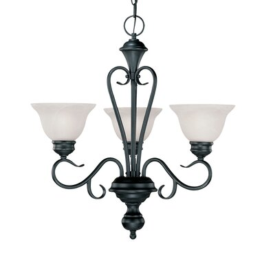Wheless 3-Light Shaded Chandelier Color: Black