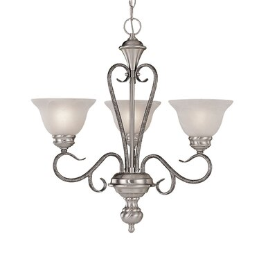 Wheless 3-Light Shaded Chandelier Color: Satin Nickel/Silvermist
