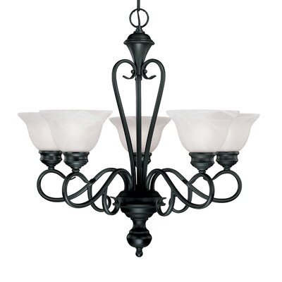 Devonshire 5-Light Shaded Chandelier Finish: Black