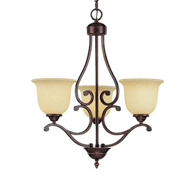Courtney Lakes 3-Light Shaded Chandelier