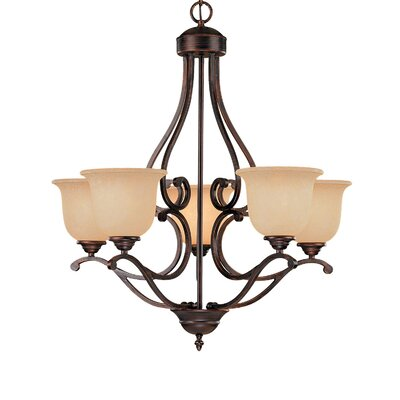 Courtney Lakes 5-Light Shaded Chandelier