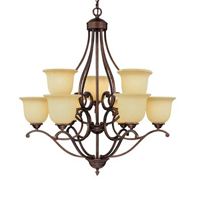 Courtney Lakes 9-Light Shaded Chandelier