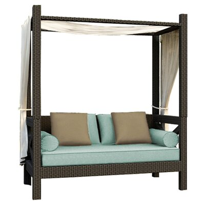 Hampton Daybed with Cushions Finish: Chocolate, Fabric: Canvas Spa / Canvas Spa Welt