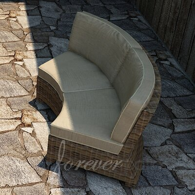 Cypress Sofa with Cushion Fabric: Spectrum Mushroom / Spectrum Sand Welt