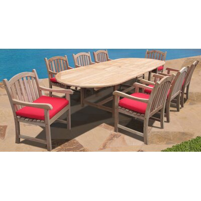 Verano 9 Piece Dining Set with Cushions