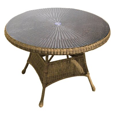 Catalina Dining Table Finish: Straw, Table Size: 48 L x 48 W