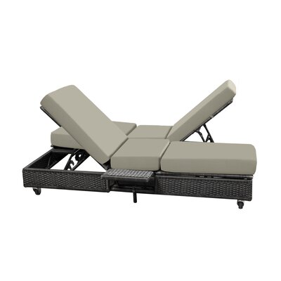 Catalina Double Chaise Lounge with Cushion