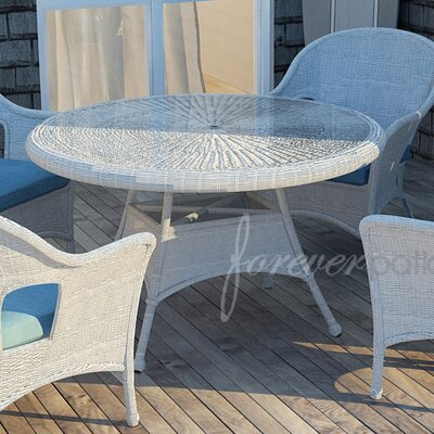 Rockport Dining Table with Glass Top Finish: White, Table Size: 30 L x 30 W