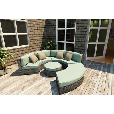 Hampton Loveseat with Cushions Finish: Heather, Fabric: Canvas Spa / Canvas Spa Welt