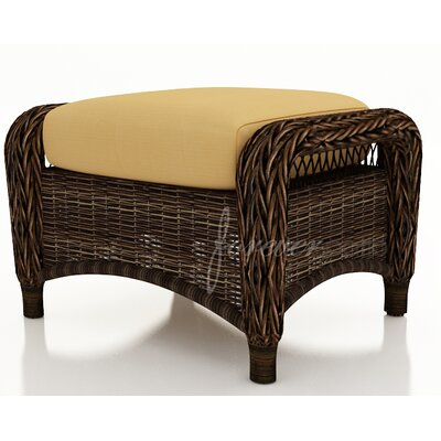 Forever Patio Leona Ottoman with Cushion
