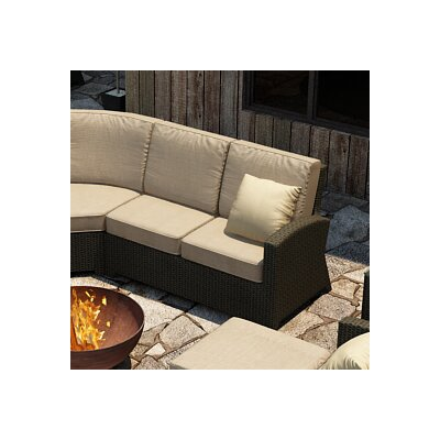 Barbados Right Arm Facing Sectional Loveseat with Cushions Fabric: Spectrum Mushroom / Spectrum Sand Welt