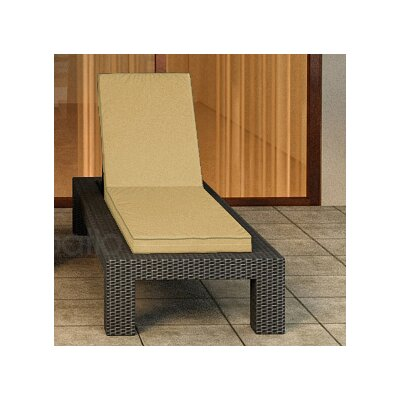 Hampton Chaise Lounge with Cushion Finish: Chocolate, Fabric Color: Canvas Wheat / Spectrum Mushroom Welt