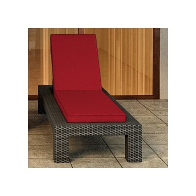 Hampton Chaise Lounge with Cushion Finish: Chocolate, Fabric Color: Flagship Ruby / Flagship Ruby Welt