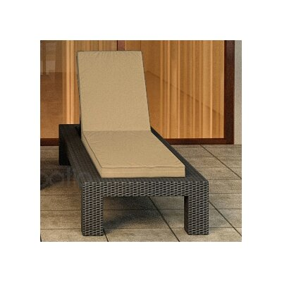 Hampton Chaise Lounge with Cushion Finish: Chocolate, Fabric Color: Canvas Heather Beige / Canvas Heather Beige Welt