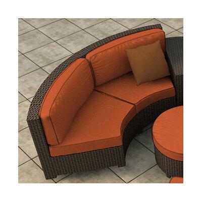 Hampton Loveseat with Cushions Finish: Chocolate, Fabric: Canvas Rust / Spectrum Sierra Welt