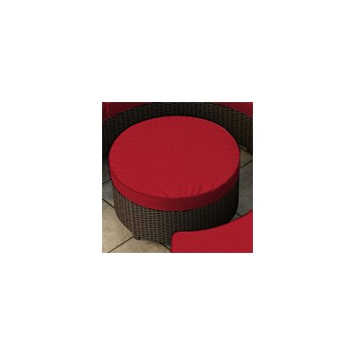 Hampton Ottoman with Cushion Finish: Chocolate, Fabric: Flagship Ruby / Flagship Ruby Welt
