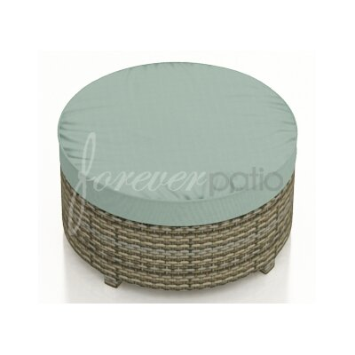 Hampton Ottoman with Cushion Finish: Heather, Fabric: Canvas Spa / Canvas Spa Welt