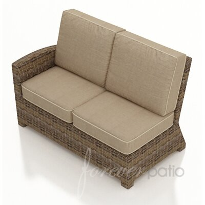 Cypress Left Arm Sectional Piece with Cushion Fabric: Spectrum Mushroom / Spectrum Sand Welt