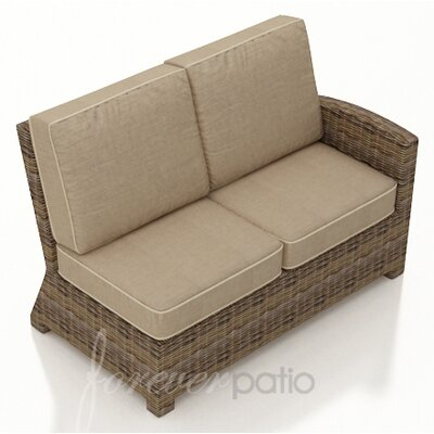 Cypress Right Arm Sectional Piece with Cushion Fabric: Spectrum Mushroom / Spectrum Sand Welt