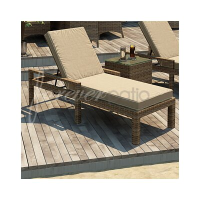 Cypress Chaise Lounge with Cushion Fabric Color: Spectrum Mushroom / Spectrum Sand Welt