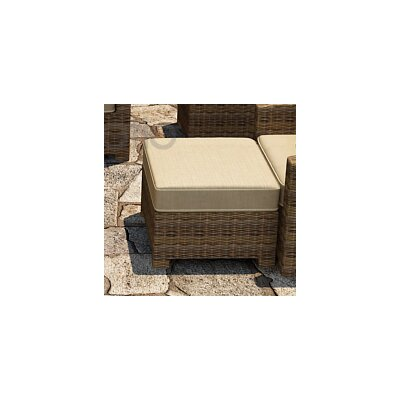 Cypress Ottoman with Cushion Fabric: Spectrum Mushroom / Spectrum Sand Welt