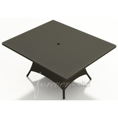 Hampton Dining Table Finish: Chocolate, Table Size: 60 W x 60 D