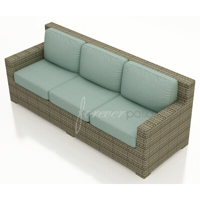 Hampton Sofa with Cushions Finish: Heather, Fabric: Canvas Spa / Canvas Spa Welt