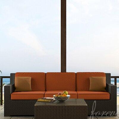 Hampton Sofa with Cushions Finish: Chocolate, Fabric: Canvas Rust / Spectrum Sierra Welt