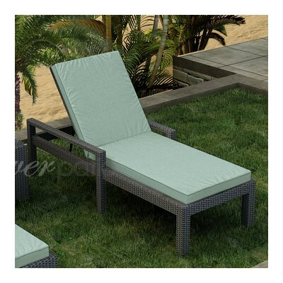 Hampton Chaise Lounge with Cushion Fabric Color: Canvas Spa / Canvas Spa Welt, Finish: Heather