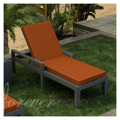 Hampton Chaise Lounge with Cushion Finish: Chocolate, Fabric Color: Canvas Rust / Spectrum Sierra Welt
