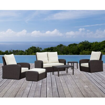 Henslee 6 Piece Deep Seating Group with Cushion