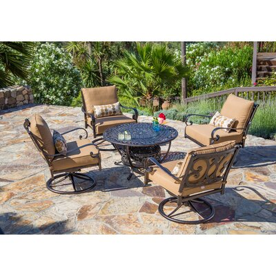 Carlinville 5 Piece Seating Group with Cushion