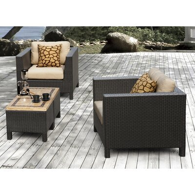 Byram 4 Piece Deep Seating Group with Cushion