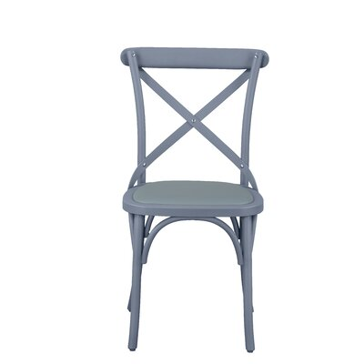 Salas Friendly Nylon Vintage Dining Chair Frame Color: Swedish Gray