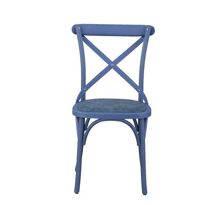 Salas Friendly Nylon Vintage Dining Chair Frame Color: Norway Blue