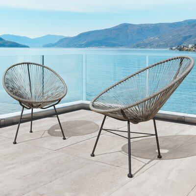 Repass Modern Papasan Chair Color: Gray