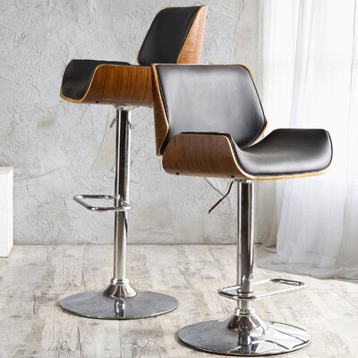 Chara Adjustable Swivel Bar Stool