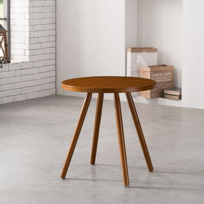 Cottage Bamboo Round Dining Table Color: Walnut