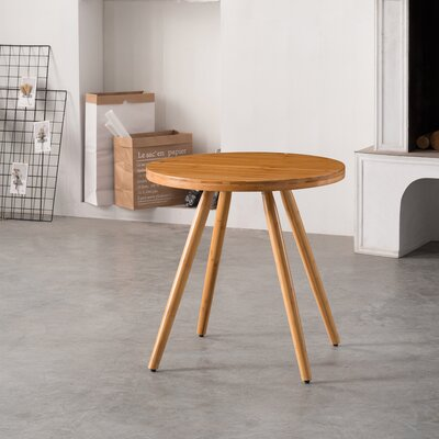 Cottage Bamboo Round Dining Table Color: Natural