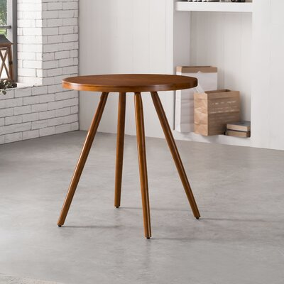 Bamboo Round Dining Table Color: Walnut