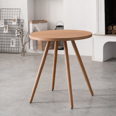 Bamboo Round Dining Table Color: Archaize
